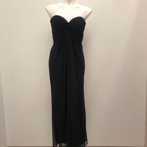 T by Tadashi Black Strapless Sweetheart Neck Dress